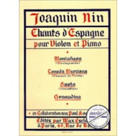 NIN J. CHANTS D'ESPAGNE VIOLON