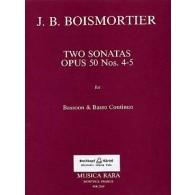 BODIN DE BOISMORTIER TWO SONATAS OP 50 N°4/5 BASSON