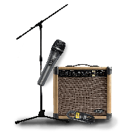 PACK CHANT COMPLET 20 WATTS : MICRO + CABLE + PIED DE MICRO + AMPLI STAGG 20AAR