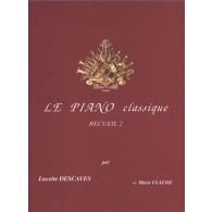 DESCAVES L. LE PIANO CLASSIQUE VOL 2
