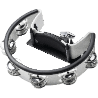 TAMBOURIN PEARL CYMBALETTES CHROME + ATTACHE