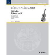 BERIOT C.A./LEONARD H. MELODIE - THEME VARIE VIOLON