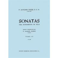 SOLER P.A. SONATAS VOL 3 PIANO