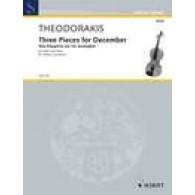 THEODORAKIS M. THREE PIECES FOR DECEMBER VIOLON