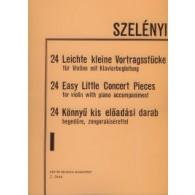 SZELENYI I. 24 EASY LITTLE CONCERT PIECES VOL 1 VIOLON