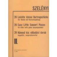 SZELENYI I. 24 EASY LITTLE CONCERT PIECES VOL 2 VIOLON