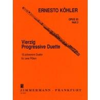 KOHLER E. 25 DUOS PROGRESSIFS OP 55 VOL 2 FLUTES