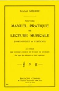 MERIOT M. NOUVEAU MANUEL PRATIQUE DE LECTURE MUSICALE