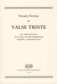 VECSEY F. VALSE TRISTE  VIOLON