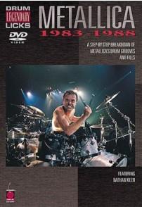 METALLICA DVD DRUM LEGENDARY LICKS 1983-1988