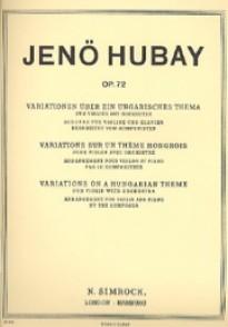 HUBAY J. VARIATION SUR UN THEME HONGROIS VIOLON