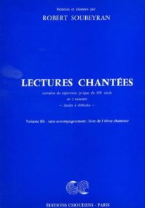 SOUBEYRAN R. LECTURES CHANTEES VOL 2B ELEVE