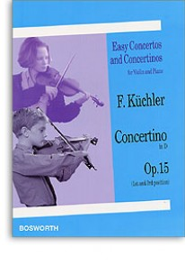 KUCHLER F. CONCERTINO RE MAJEUR OP 15 VIOLON