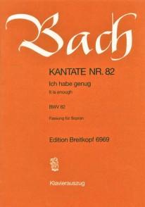 BACH J.S. CANTATE BWV 82 CHANT PIANO