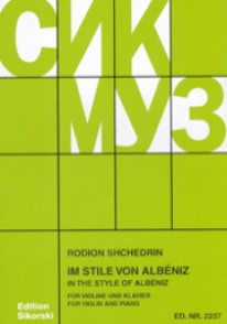 CHEDRINE R. IM STILE VON ALBENIZ VIOLON