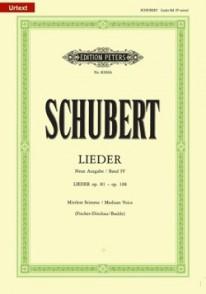SCHUBERT F. LIEDER VOL 4 VOIX MOYENNE