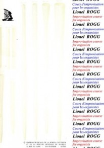 ROGG L. COURS D'IMPROVISATION TONAL VOL 1 ORGUE