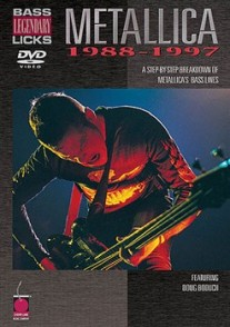 METALLICA DVD LEGENDARY BASS  LICKS 1988-1997