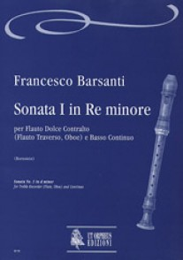 BARSANTI F. SONATE I RE MINEUR FLUTE A BEC