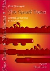 MOSZKOWSKI M. FIVE SPANISH DANCES FLUTES