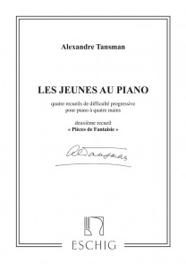 TANSMAN A. LES JEUNES AU PIANO RECUEIL 2 PIANO 4 MAINS