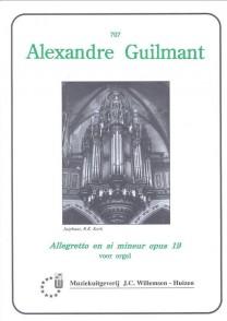 GUILMANT A. ALLEGRETTO EN SI MINEUR OP 19 ORGUE