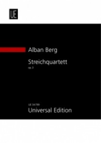 BERG A. STRING QUARTET OP 3 PARTITION POCHE