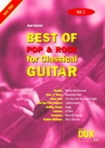 BEST OF POP & ROCK FOR CLASSICAL GUITAR VOL 3