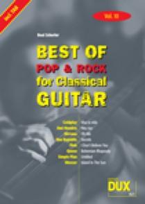 BEST OF POP & ROCK FOR CLASSICAL GUITAR VOL 10