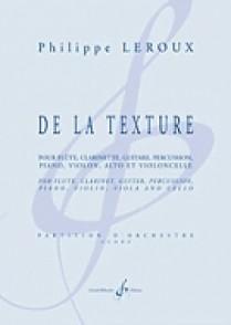 LEROUX P. DE LA TEXTURE ORCHESTRE