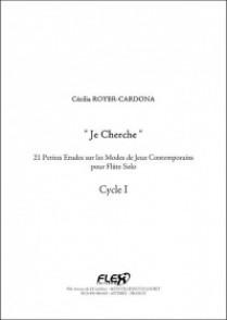 ROYER-CARDONA C. JE CHERCHE FLUTE
