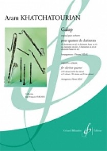 KHATCHATURIAN A. GALOP QUATUOR CLARINETTES