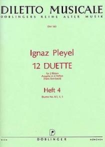 PLEYEL I. 12 DUETTES VOL 4 FLUTES