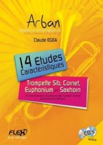 ARBAN 14 ETUDES CARACTERISTIQUES TROMPETTE + CD