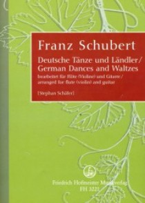 SCHUBERT F. GERMAN DANCES AND WALTZES FLUTE OU VIOLON ET GUITARE