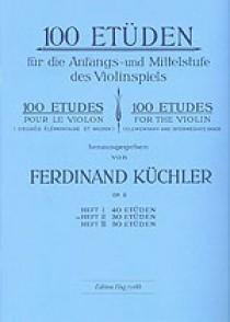 KUCHLER F. 100 ETUDES OPUS 6 VOL 2 VIOLON
