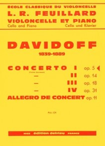 DAVIDOFF K. CONCERTO N°1 OP 5 VIOLONCELLE