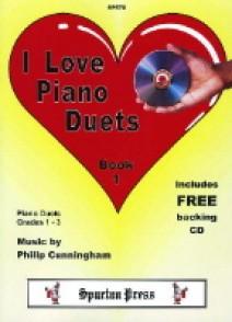 CUNNINGHAM P. I LOVE PIANO DUETS VOL 1 PIANO 4 MAINS