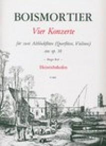 BOISMORTIER J.B. (DE) VIER KONZERTE OP 38 2 ALTO RECORDERS