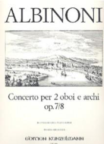 ALBINONI T. CONCERTO RE MAJEUR OP 7 N°8 2 HAUTBOIS