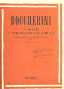 BOCCHERINI L. 19 SONATES VOL 2 VIOLONCELLE