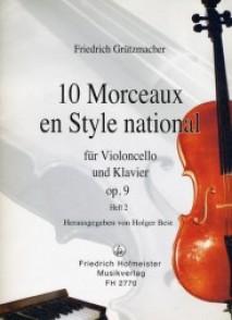 GRUTZMACHER F. MORCEAUX EN STYLE  NATIONAL VOL 2 VIOLONCELLE