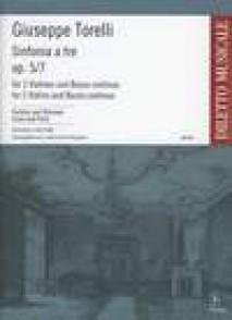 TORELLI G. SINFONIA A TRE OP 5/7 2 VIOLONS