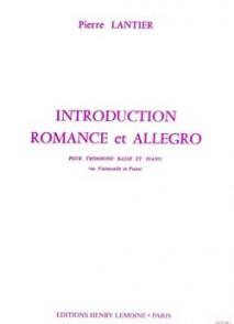 LANTIER P. INTRODUCTION , ROMANCE ET ALLEGRO TROMBONE BASSE