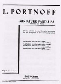 PORTNOFF L. FANTAISIE RUSSE N°4 VIOLON