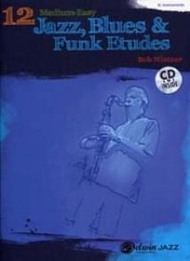 MINTZER B. 12 MEDIUM EASY JAZZ BLUES & FUNK ETUDES INST. EB