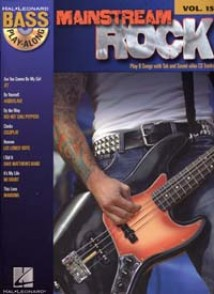 BASS PLAY-ALONG VOL 15 MAINSTREAM ROCK BASSE TAB