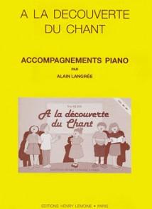 KLEIN Y. A LA DECOUVERTE DU CHANT PIANO