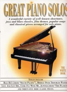 GREAT PIANO SOLOS THE WHITE BOOK