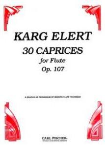 KARG-ELERT S. 30 CAPRICES OP 107 FLUTE
